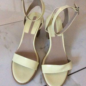 Zara Shoes - Zara basic collection yellow Green baby heels